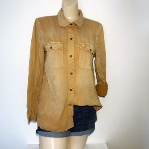 MADEWELL MUSTARD YELLOW BUTTON DOWN TOP